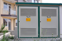 Transformer. Transformer vault two-piece in Bulgaria royalty free stock photography