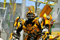 Transformer Bumble bee. Bumblebee, one of the more popular Transformers autobots at the Universal Studio in Singapore Stock Photo