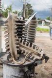 Transformer bushing damaged Stock Photography