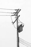 Transformer on electric post Royalty Free Stock Photos