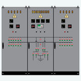 Transformer, electric shield Royalty Free Stock Image