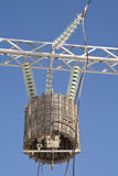 Transformer of high energy against the sky Royalty Free Stock Photos