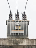 Transformer on high power station. Stock Photo