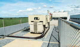 Transformer on high power station. High voltage Royalty Free Stock Image