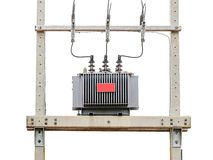 Transformer on high power station Royalty Free Stock Photos