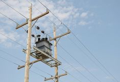 Isolated power transformer Royalty Free Stock Image