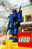 Transformer, made entirely of Lego,. A larger than life Transformer, made entirely of Lego, stands guard at the Mall of America in Bloomington, Minnesota Stock Image