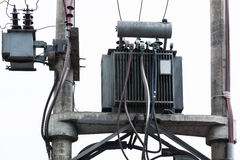 Transformer on a pole Stock Photography