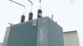 Transformer at a power plant, transformer at a solar power station