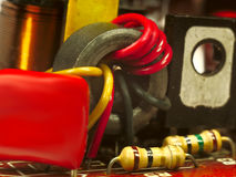 Transformer radiofrequency transistor and resistor Royalty Free Stock Photography