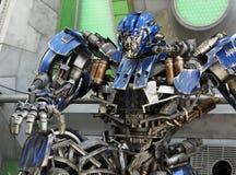 Transformer Robot. View of transformer robot over model Royalty Free Stock Photos