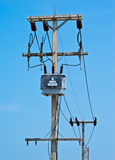 Transformer with a sky background. Stock Photography