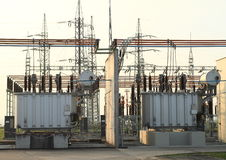 Free Transformer Station Royalty Free Stock Photo - 46274945