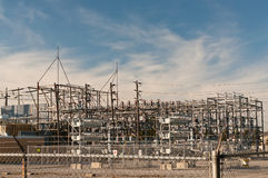 Transformer Station - Electrical Substation Royalty Free Stock Image