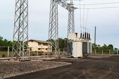 Transformer station Stock Photo