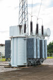 Transformer station and the high voltage pole Stock Photography