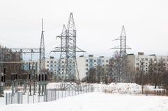 Transformer substation Stock Photo
