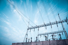 Transformer substation Royalty Free Stock Images