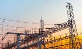Transformer substation Stock Image