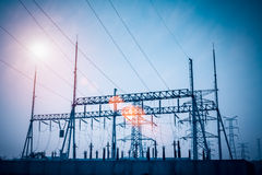 Transformer substation Royalty Free Stock Photography