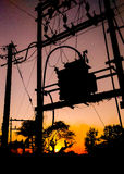 Transformer. Supplying power Stock Images