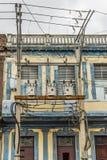 Transformers on building Havana Royalty Free Stock Photos