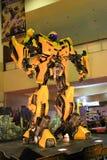 The Transformers Bumblebee. KUALA LUMPUR, MALAYSIA - DEC 3: Replica of Bumblebee from Transformers were displayed at Kuala Lumpur International Motor Show on Royalty Free Stock Photo