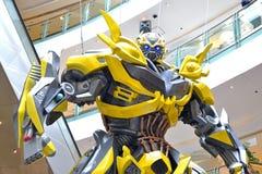 Transformers Bumblebee. Model on display at Telford Plaza, Hong Kong Royalty Free Stock Image