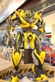 Transformers Bumblebee. Model on display at Tsing Yi Mall, Hong Kong Royalty Free Stock Images