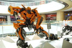 Transformers in shopping mall Royalty Free Stock Photography