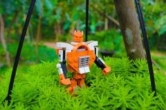 Transformers Toy On Planet Royalty Free Stock Photo