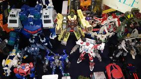 Transformers toy for sale stock video