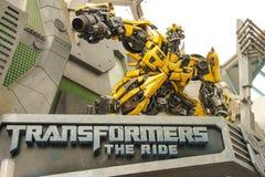 Transformers @ Universal Studios Singapore. Universal Studios Singapore is a theme park located within Resorts World Sentosa on Sentosa Island, Singapore Stock Images