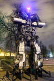 Transformers in Zagreb at night Royalty Free Stock Photo