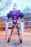 Transformers in Zagreb at night Royalty Free Stock Photos