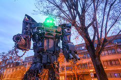 Transformers in Zagreb at night Royalty Free Stock Images