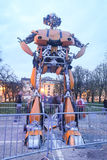 Transformers in Zagreb at night Royalty Free Stock Photography