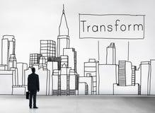 Transformez le concept d'évolution de changement de transformation Photographie stock libre de droits
