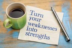Transformez vos faiblesses en forces photo libre de droits