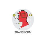 Transfrom Perception Human Profile Icon Stock Photography