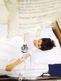 Transfusión del niño Fotografía de archivo