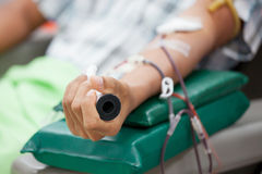 Transfusion blood donation,blood donor at hospital Royalty Free Stock Photography