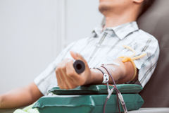 Transfusion blood donation,blood donor at hospital. Healthcare and charity concept royalty free stock photos