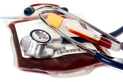 Transfusion bloody - donate Stock Photos
