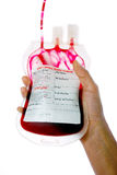 Transfusion sanguine Photographie stock