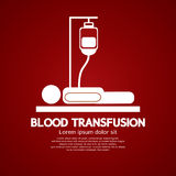 Transfusion sanguine. Photos libres de droits