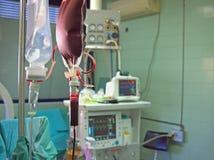 Transfusion at surgery. Transfusion and infusion at surgery Stock Photography