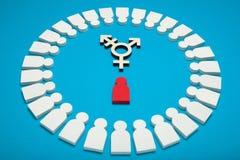 Transgender επιτυγχάνει το υπόβαθρο, προσδιορισμός Ποικιλομορφία γένους, αμφίφυλη ταυτότητα androgyn στοκ εικόνες