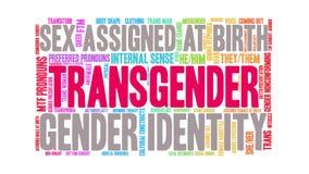 Transgender animated word cloud