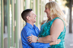 Transgender couple embracing each other Royalty Free Stock Images